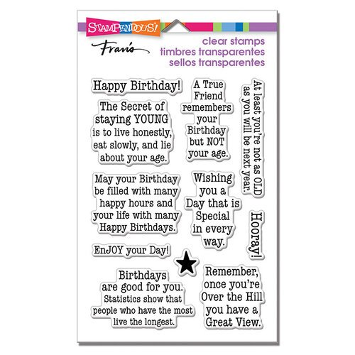 Stampendous - Clear Photopolymer Stamps - Birthday Age