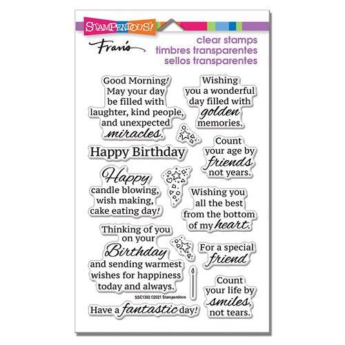 Stampendous - Clear Photopolymer Stamps - Birthday Smiles