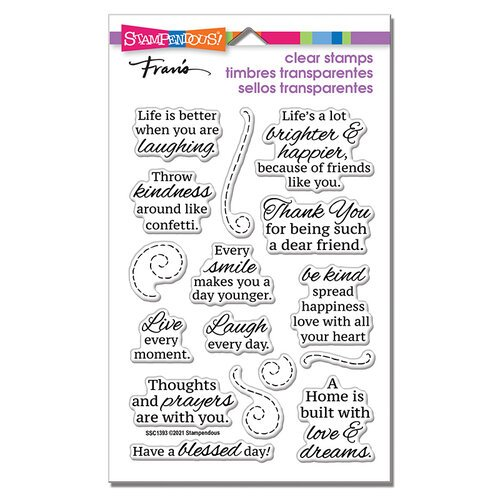 Stampendous - Clear Photopolymer Stamps - Laugh Everyday