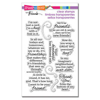 Stampendous - Clear Photopolymer Stamps - Friends Hug