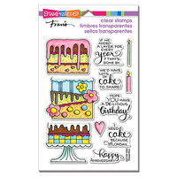 Stampendous - Clear Photopolymer Stamps - Slimline - Cake