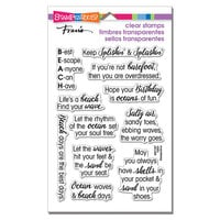 Stampendous - Clear Photopolymer Stamps - Ocean Sayings