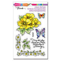 Stampendous - Clear Photopolymer Stamps - Tranquil Rose Frame
