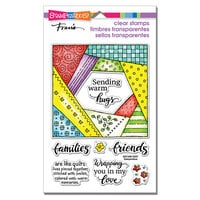 Stampendous - Clear Photopolymer Stamps - Quilt Hugs