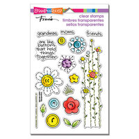 Stampendous - Clear Photopolymer Stamps - Button Blossoms