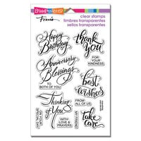 Stampendous - Clear Photopolymer Stamps - Brushed Messages