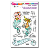 Stampendous - Clear Photopolymer Stamps - Mermaid Pals