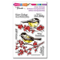 Stampendous - Christmas - Clear Photopolymer Stamps - Chickadee Holiday