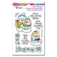 Stampendous - Christmas - Clear Photopolymer Stamps - Snow Time Frame