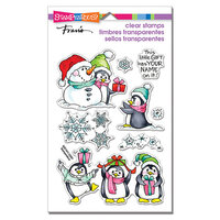 Stampendous - Christmas - Clear Photopolymer Stamps - Penguin Gift