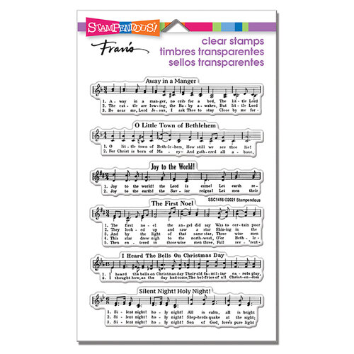 Stampendous - Christmas - Clear Photopolymer Stamps - Caroling Music