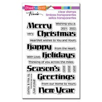 Stampendous - Christmas - Clear Photopolymer Stamps - Bold Season
