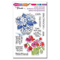 Stampendous - Clear Photopolymer Stamps - Blue Poppies