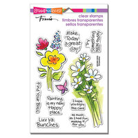 Stampendous - Clear Photopolymer Stamps - Bunch Of Blossoms