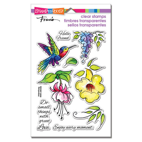 Stampendous - Clear Photopolymer Stamps - Hummingbird Hello