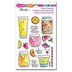 Stampendous - Clear Photopolymer Stamps - Fruity Drinks