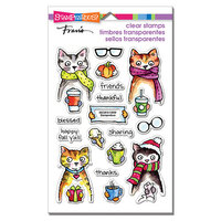 Stampendous - Clear Photopolymer Stamps - Thankful Kitty