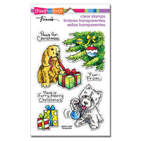 Stampendous - Clear Photopolymer Stamps - Furry Christmas