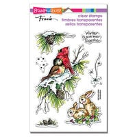 Stampendous - Christmas - Clear Photopolymer Stamps - Birds and Bunnies