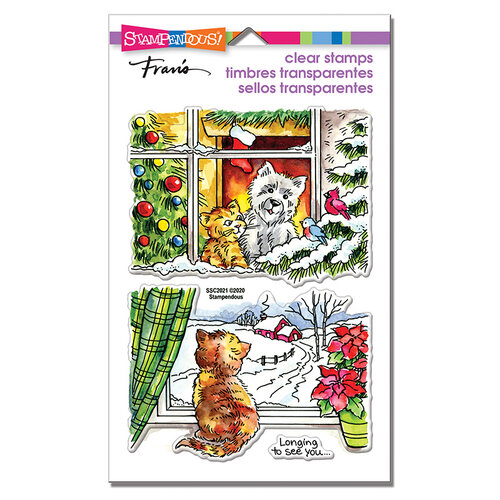 Stampendous - Christmas - Clear Photopolymer Stamps - Window Views