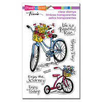 Stampendous - Clear Photopolymer Stamps - Basket Bikes