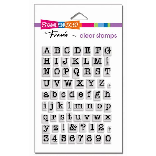 Stampendous - Clear Photopolymer Stamps - Small Typewriter Alphabet