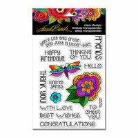 Stampendous - Clear Acrylic Stamps - Floral Greetings