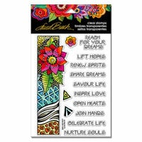 Stampendous - Clear Acrylic Stamps - Geo Flora Wishes