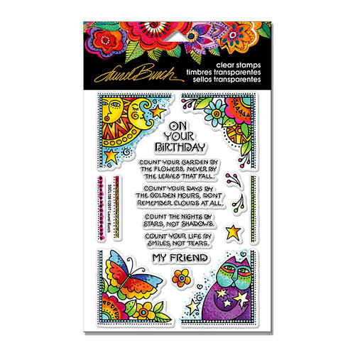 Stampendous - Clear Photopolymer Stamps - Bday Corners