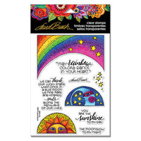 Stampendous - Clear Photopolymer Stamps - Rainbow Moon