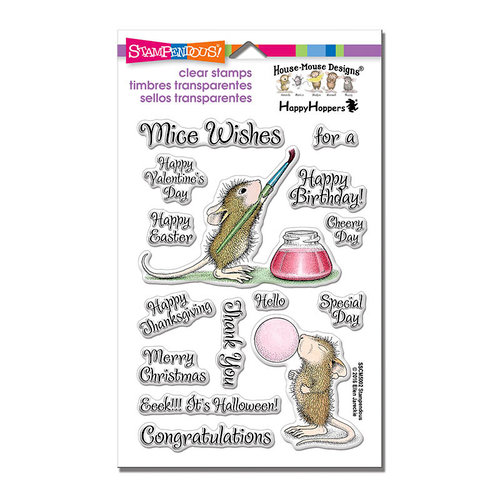 Stampendous - Clear Acrylic Stamps - Painted Wishes
