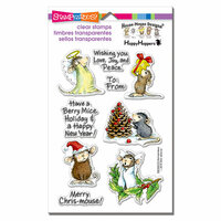 Stampendous - House Mouse Designs - Christmas - Clear Photopolymer Stamps - Merry Mice