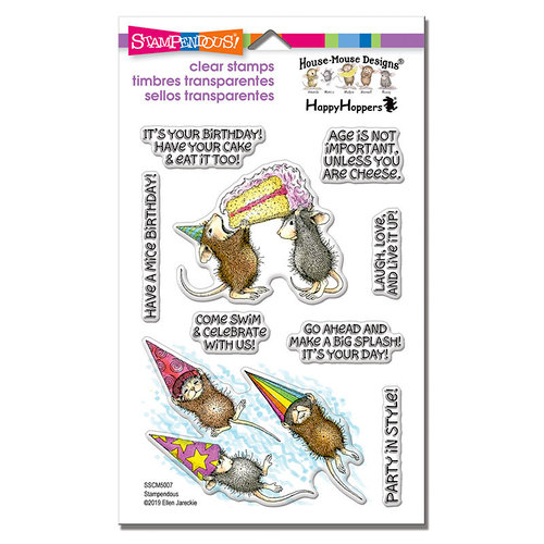 Stampendous - House Mouse Designs - Clear Photopolymer Stamps - Birthday Splash