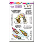 Stampendous - House Mouse Designs - Clear Acrylic Stamps - Birthday Splash