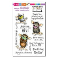 Stampendous - House Mouse Designs - Clear Photopolymer Stamps - Masked Mice