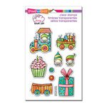 Stampendous - Pink Your Life - Clear Acrylic Stamps - Whisper Happy Wagon