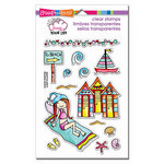 Stampendous - Clear Acrylic Stamps - Whisper Friends - Beach Day