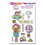 Stampendous - Clear Acrylic Stamps - Whisper Friends - Travel