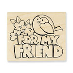 Stampendous - Wood Mounted Stamps - Chunky Greeting