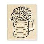 Stampendous - Wood Mounted Stamps - Succulent Pitcher
