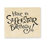 Stampendous - Wood Mounted Stamps - Superstar Birthday