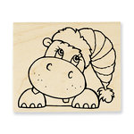 Stampendous - Christmas - Wood Mounted Stamps - Hippo Holiday