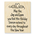 Stampendous - Christmas - Wood Mounted Stamps - Joy and Love