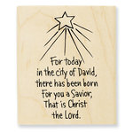 Stampendous - Christmas - Wood Mounted Stamps - Savior Born