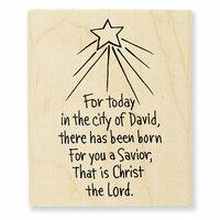 Stampendous - Christmas - Wood Mounted Stamps - Savior Born