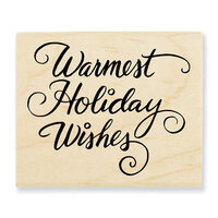 Stampendous - Christmas - Wood Mounted Stamps - Warmest Holiday