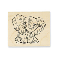 Stampendous - Wood Mounted Stamps - Petite Pachyderm