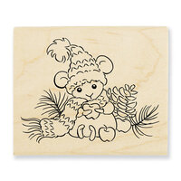 Stampendous - Wood Mounted Stamps - Apple Mouse