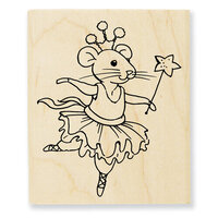 Stampendous - Wood Mounted Stamps - Clara Mouse