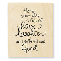 Stampendous - Wood Mounted Stamps - Love Laughter
